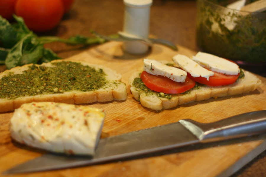 basil, pesto and our favorite summer sandwich | Farmish Momma