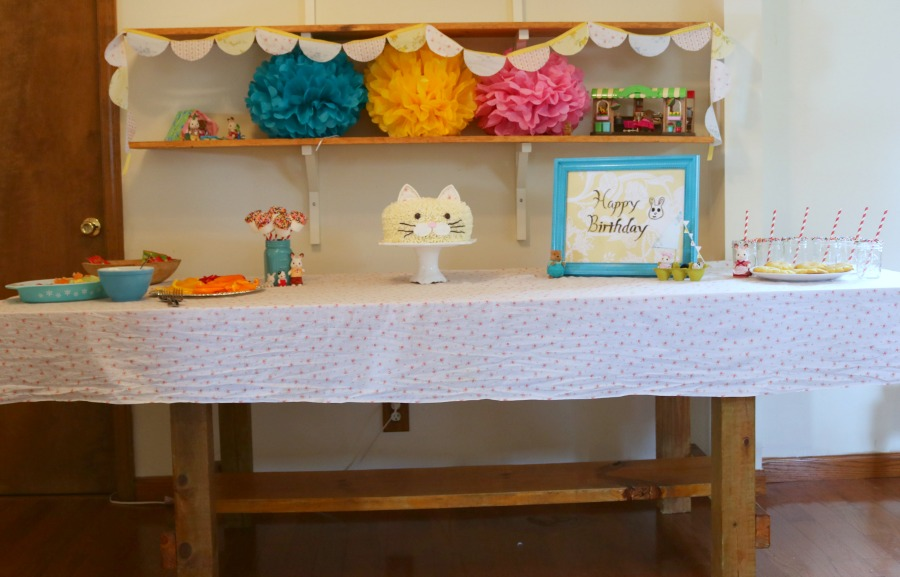 kitty cake and calico critters party