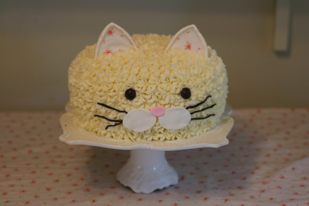 cat cake calico critters birthday